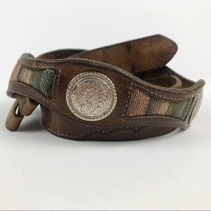 Western Cowboy Concho Belt WITHOUT BUCKLE Size 34